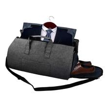 Foldable Suit Travel Bag Duffle Bag,Carry on Hand Luggage Bag Suitcase Big Duffel Bag with Shoe Compartment for Suit and Dress golden nigerian party shoe and bag sets decorated with rhinestone african wedding shoe and bag set party shoes and bag