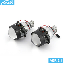 "RONAN 2.5""Ver8.1 7.1 Bi xenon HID projector Lens MH1 car headlight H4 H7 base Car Styling retrofit motorcycle headlight"