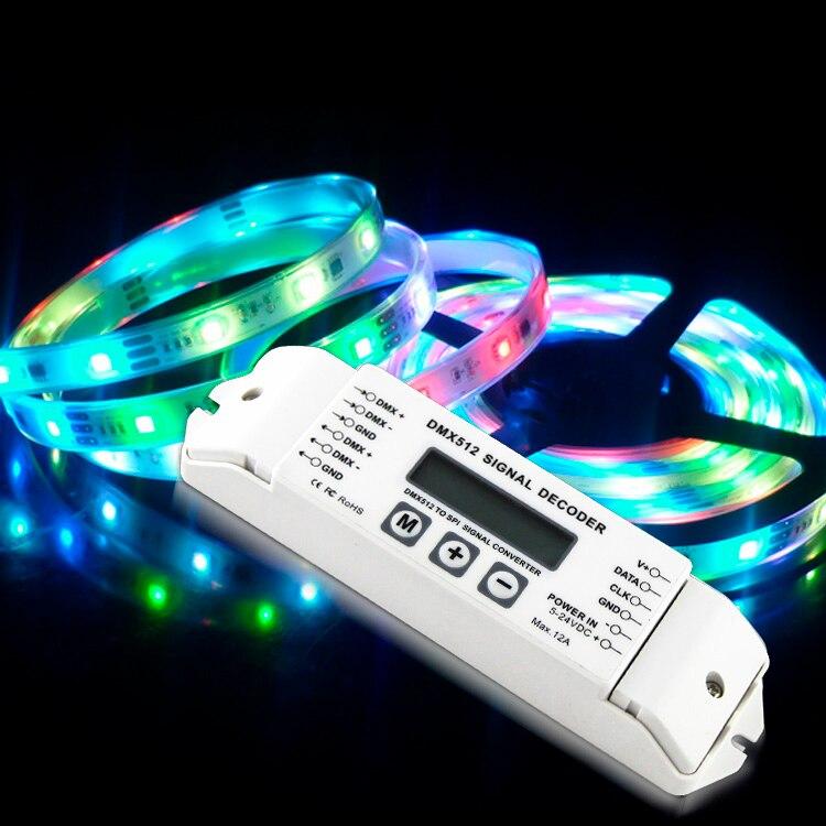 BC-820 DMX-SPI Décodeur convertisseur DMX à SPI DMX512 Contrôleur pour LPD6803 LPD8806 WS2811 WS2801 WS2812B pixel lumière LED