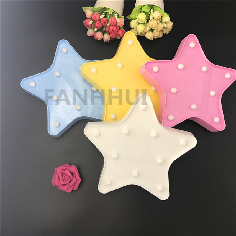 Novelty Star Night Light Kids Baby Bedroom Sleeping Lighting - Nattlys