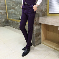 2017 Spring New Korean Slim Was Thin Casual Pants Men S Nightclub Business Fashion Men S