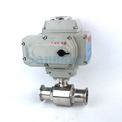 3/4-2 SUS304 Stainless Steel Sanitary AC220V Electric Tri Clamp Ball Valve For Homebrew 3 1 2 ss 304 butterfly valve manual stainless steel butterfly valve sanitary butterfly valve welding butterfly