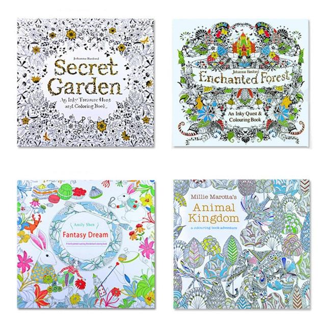 Coloriage Mandala Couleur.Le Jardin Secret 4 Pieces Edition Anglaise Livre De Coloriage Pour