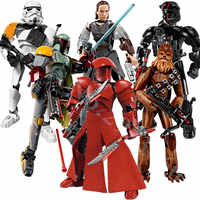 sermoido Star Wars Rogue One Toys Jango Phasma Jyn Erso K-2SO Darth Vader General Grievous Figure toy building blocks Toys