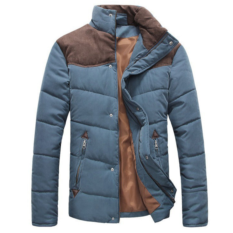 2016 Hot Sale Men Winter Splicing Cotton-Padded Coat Jacket Winter Plus Size Parka High Quality Warm Cotton Coat