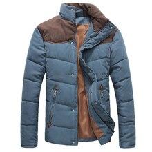 2016 Hot Sale Men Winter Splicing Cotton-Padded Coat Jacket Winter Plus Size Parka High Quality Warm Cotton Coat