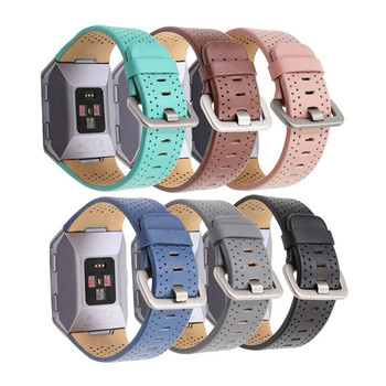 Replacement Fitbit Ionic accessories Bands XBERSTAR Genuine Leather Wristband Strap Watchband for Fitbit Ionic watch wear fitbit watch