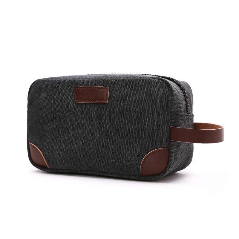 53954a6434 Men s Travel Toiletry Organizer Bag Canvas Shaving Dopp Kit Make up Bag  Cosmetic Bag Trousse de