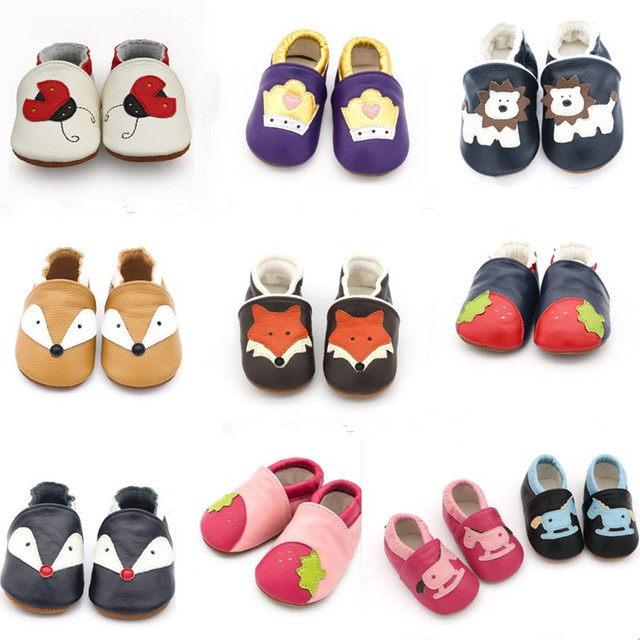 2019 New Skid-Proof Fox Baby Shoes Soft Genuine Leather Baby Boys Girls Infant toddler Moccasins Shoes Slippers First Walkers