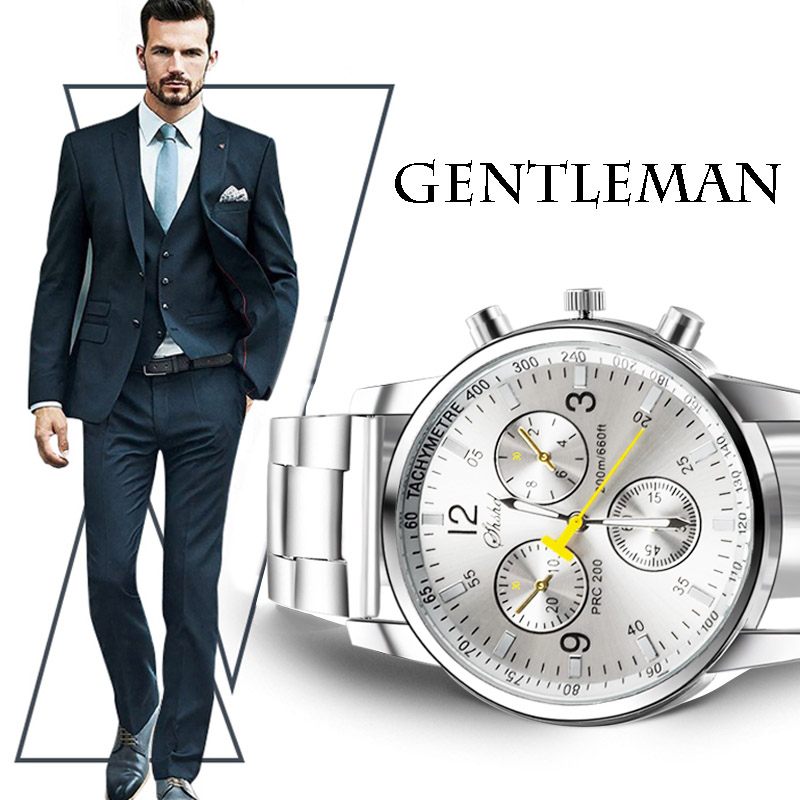 Men Fashion Watch Luxury Stainless Steel Business Quartz Elegant Watches Analog Wristwatch top quality male Casual Wholesale luxury watches men stainless steel fashion brand casual business sport watch wristwatch leather strap quartz watch analog g034