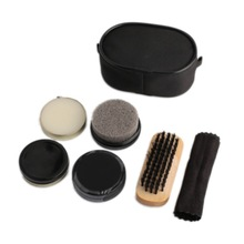 Black Neutral Shoe Shine Polish, 3 Brushes, 1 Cleaning Cloth