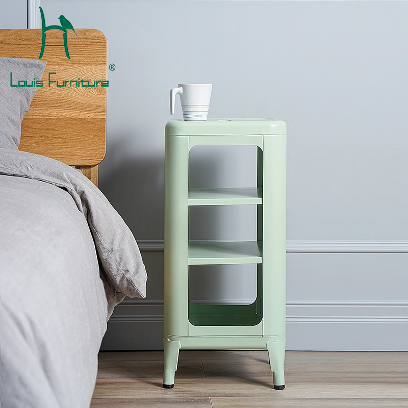 Louis Fashion Nightstands Nordic Iron Mini Mini Store Narrow Corner Living Room Sofa Modern Minimalist