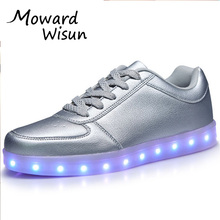 Size 28 45 USB Charge Luminous Sneakers Glowing Shoes Tenis Feminino Basket Led Light Up sole