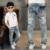 2016 Muchachos de La Manera Pantalones Vaqueros de alta calidad para la Primavera y el otoño 2-14 Años de Los Niños Pantalones de Mezclilla Para Niños agujero jean venta caliente