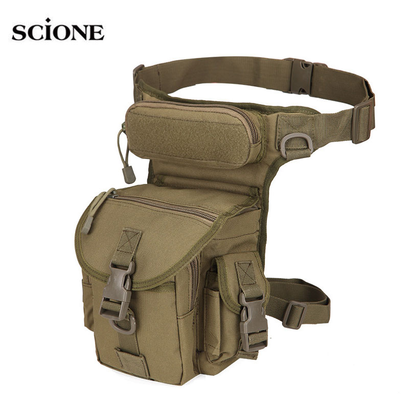 Cintura táctica bolsa de pierna caída bolsas herramienta Fanny Camping senderismo Trekking de hombro militar Silla de Nylon Multi-función Paquete XA618WA