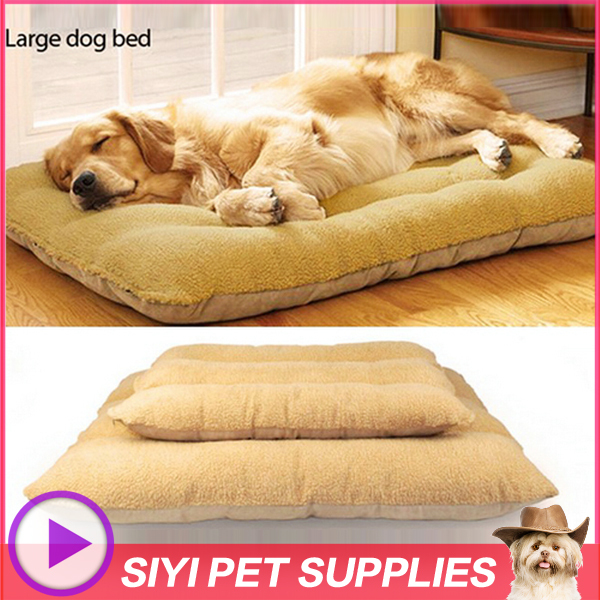 Luxury large dog bed Removable Washable,Berber Fleece 100% Cotton Dog Beds/Mats Cat Bed Dog Bedding Double bed for dog