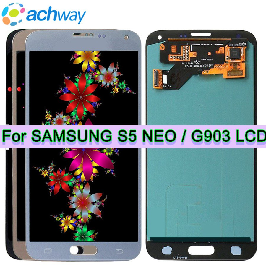 Super AMOLED LCD S5 Neo For Samsung S5 NEO LCD Display G903 G903F Display Touch Screen
