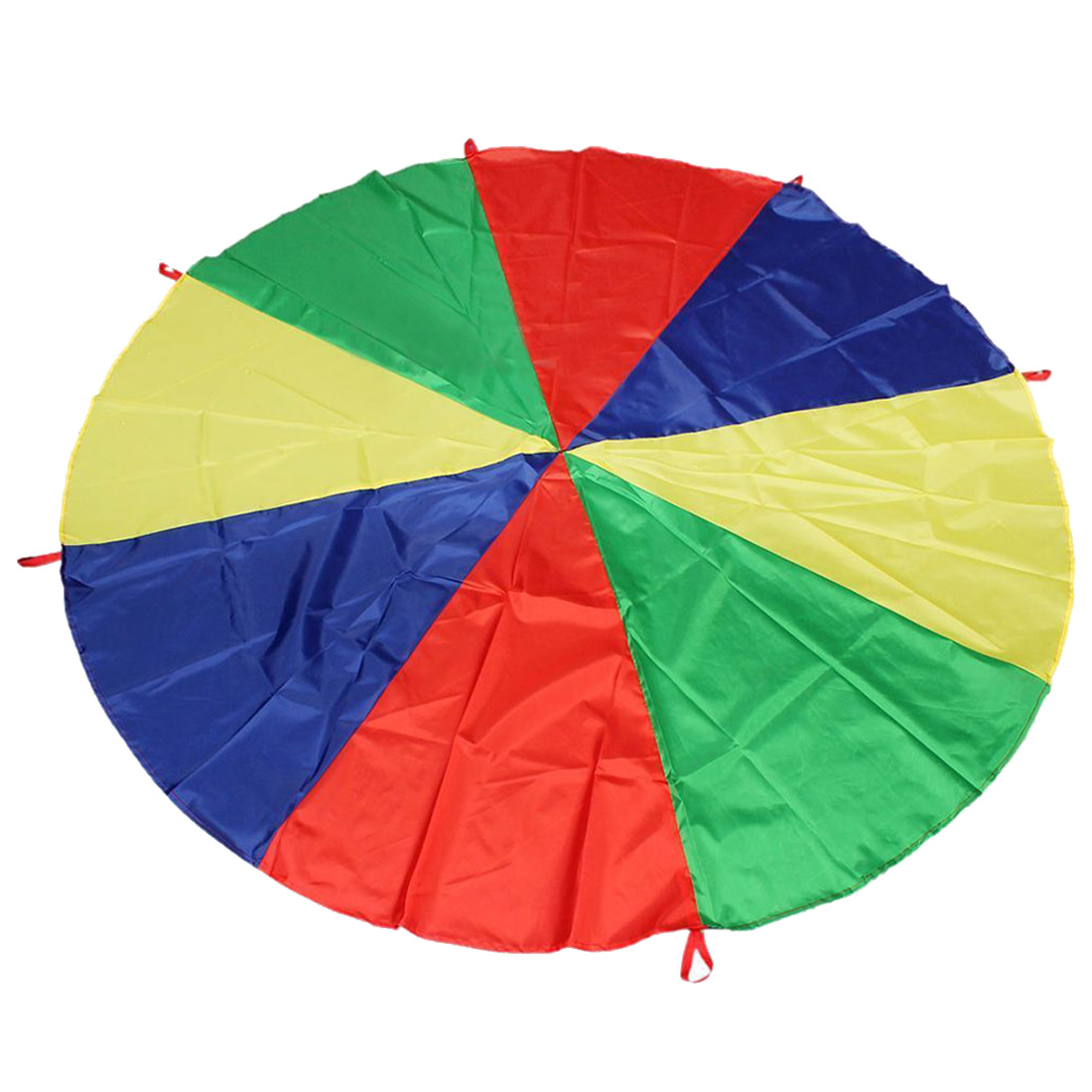 2M/6.5FT Childrens Play Rainbow Parachute Outdoor Game Exercise Sport