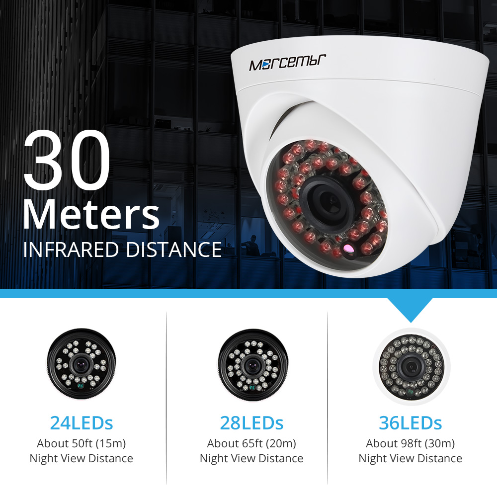 Morcembr AHD Camera Night Vision Security 720P CCTV Camera Indoor Plastic Mini IR Dome Camera 24pcs LED Board AHD Cameras ahd 720p hd plastic shell mini dome analog ahd cctv camera indoor ir cut night vision plug and play home security freeshipping
