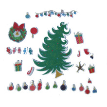 31pcs DIY Scrapbooking Merry Christmas Gift Kraft Sticker tree/balloon/candy/Gift Labels Stickers Kitchen Sweets Party