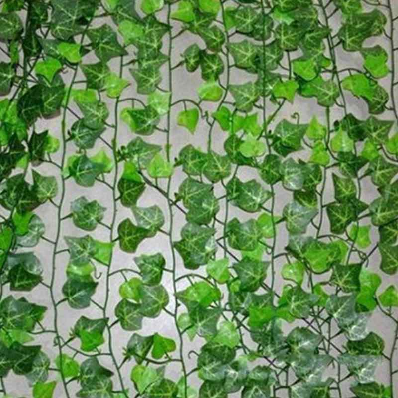 200 cm Artificial Ivy Leaf Garland Plants Plastic green long Vine Fake Foliage flower Home decor Wedding decoration