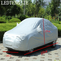 Full Car Cover Waterproof And Dustproof UV Car Cover Clothes SUV SurfaceProtection All Sedan Car Models Silver