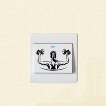 Physical Fitness Fashion Female Athletes Vinyl Wall Decal Switch Sticker 5WS0979