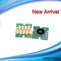 Short Type T2941 Auto Reset Chip For Refillable Ink Cartridge For WF2630 2650 2660 Etc