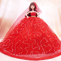 Dream Princess Handmade Diamond Wedding Dress Bride Wedding Dress Doll Accessories Formal Dress Trailing Dress Doll DTS014