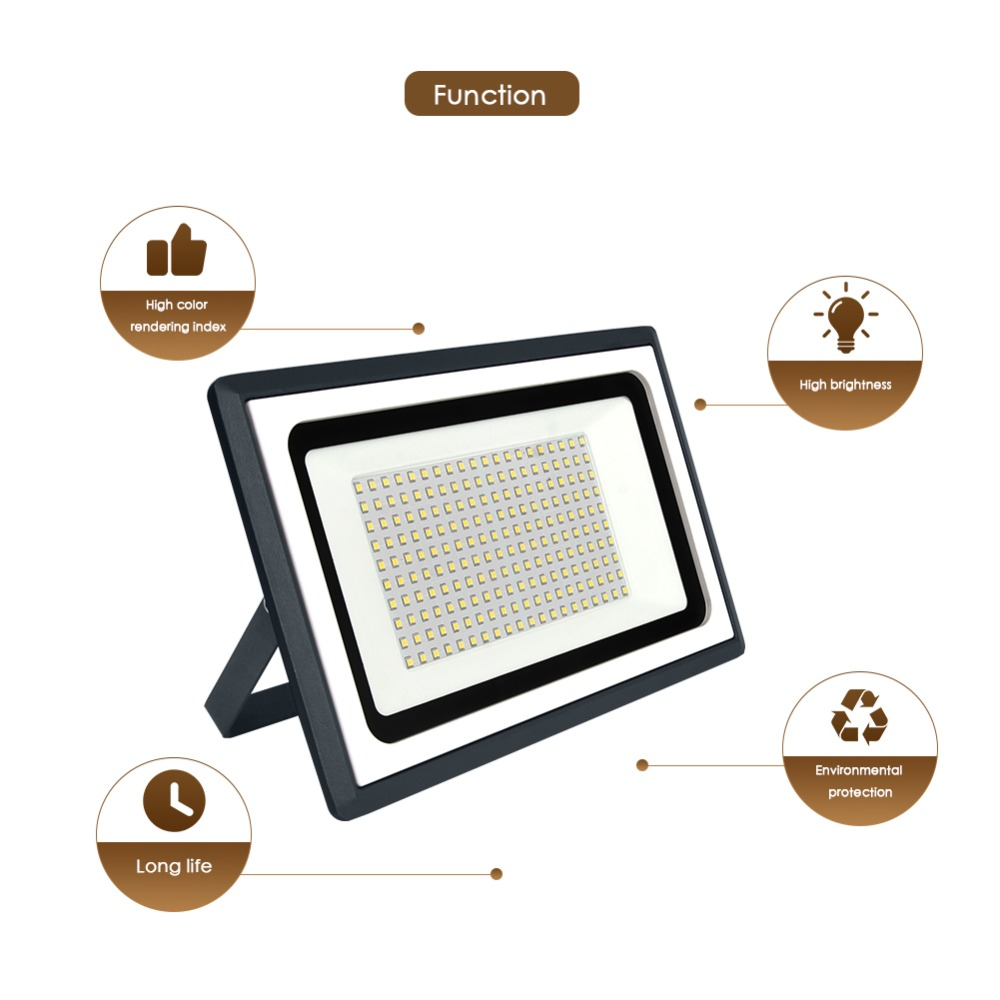 Image 3 - LED Flood Light Outdoor Spotlight Floodlight 10W 20W 30W 50W 100W Waterproof Garden Wall Washer Lamp Reflector IP65 AC 220V 110V-in Floodlights from Lights & Lighting