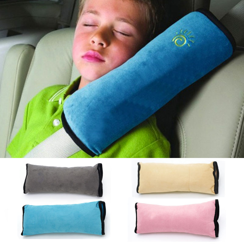 Baby Pillow Pad Car Auto Safety Seat Shoulder Belt Harness Protector Anti Roll Pad Sleep Pillow For Kids Toddler Pillow Hot
