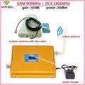 Лучшая Цена 1 Компл. Dual Band 4 Г GSM Репитер + Антенна! ЖК-Дисплей GSM 900 DCS 1800 МГц МГц Мобильный Телефон Усилитель Сигнала Усилителя