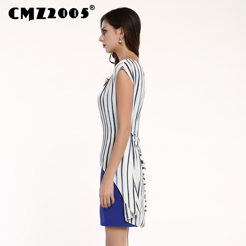 Jubah katun Plus Ukuran Busana Musim Panas Gaun Kepribadian Dresses - Pakaian Wanita - Foto 4