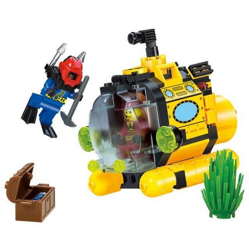 ENLIGHTEN City Series Treasure Hunt Tiny Submarine Assemble Building Blocks Classic Kids Toys Compatible Legoe For Children gift футболка armani jeans c6h28 ck 9u