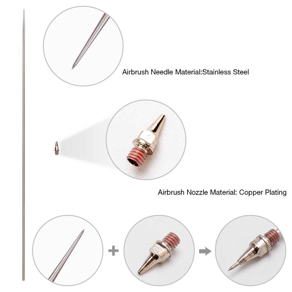 0.2/0.3/0.5 MM Airbrush Nozzle Jarum Suku Cadang untuk Airbrush Spray Gun Model Penyemprotan Cat Alat aksesoris