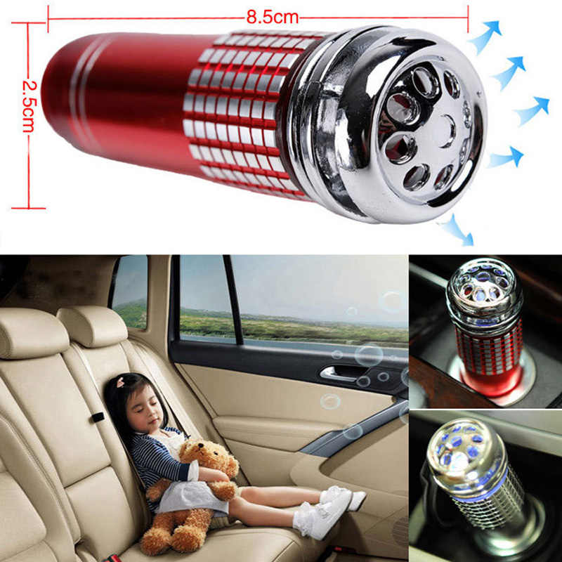 Mini Car Air Purifier 12V Mini Auto Mobil Udara Segar Anion Ionic Purifier Oksigen Bar Ozon Ionizer Cleaner Kendaraan penyegar Udara