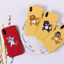 Lucu Kartun Panda DAB Swag On Lembut Silicone Ponsel Case Coque Fundas For iPhone 7 7 Plus 6 6 S 6 Plus 5 5 S 8 8 Plus X XS Max(China)