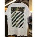 Virgil Abloh Blanquecino Nuevo camuflaje de impresión Sarga Camiseta de hip-hop negro camiseta OFF-White men camo tee shirt marca ropa