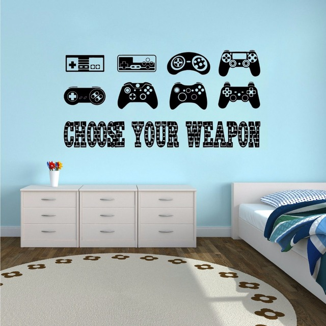 Controllers Wall Sticker R Quote Vinyl Decal Boys Room Decor Playroom Wallpaper Video