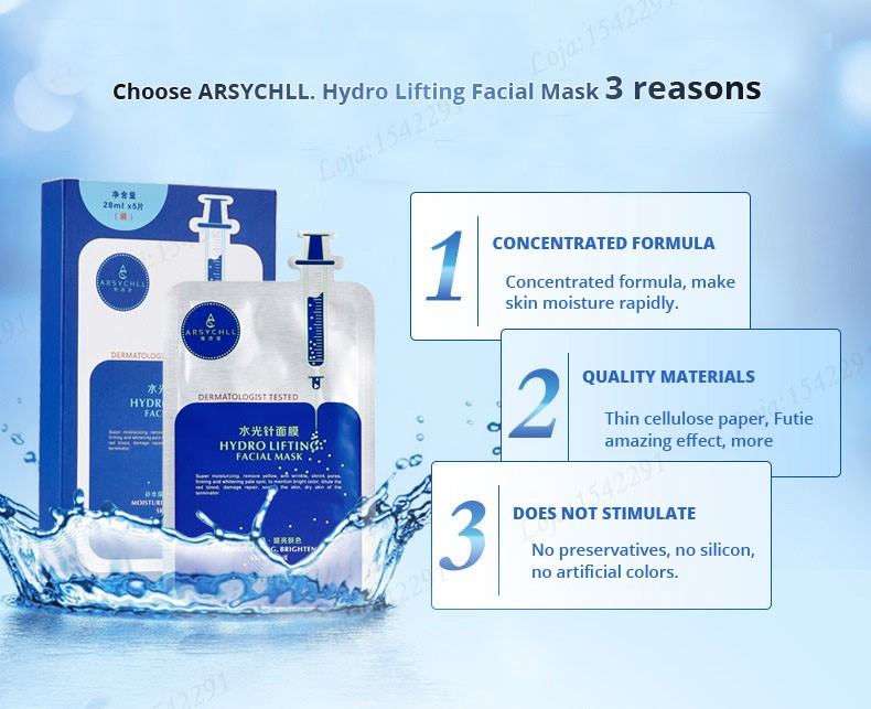 Hyaluronic acid natural silk moisturizing facial masks woman cleansing purifying pores acne whitening face skin care beauty mask 16