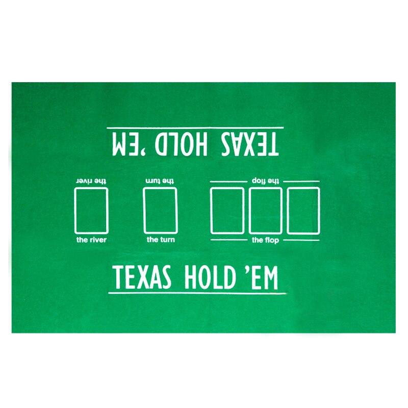 90*60см Texas Hold'em Poker Table Cloth Мини покер скатерть настольные игры карты игральные скатерти-0