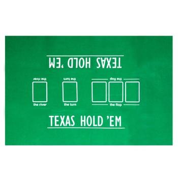 90*60cm Texas Hold'em Poker Table Cloth Easy to Carry Mini Poker Set Accessory Poker Felt Layouts