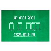 60*90cm 5 Players Anti Pilling Texas Holdu0027em Poker Table Cloth Poker Layout  Set Poker Felt Layouts
