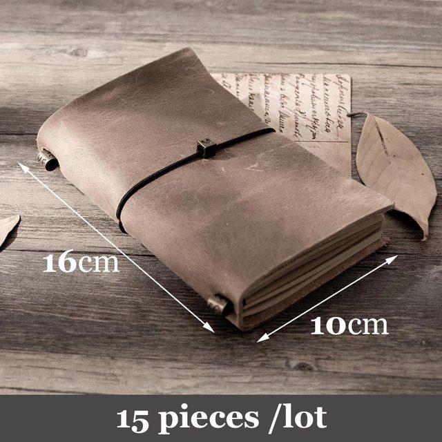 15pcs del Viaggiatore notebook Dellannata del pendente tipo di bendaggio viaggiatore diario note book pianificatore Organizzatore personale creativo planner