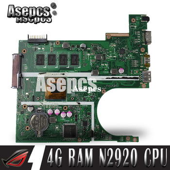 Asepcs X200MA Laptop motherboard for ASUS X200MA  F200M F200MA Test original motherboard 4G-RAM N2920 4 cores CPU