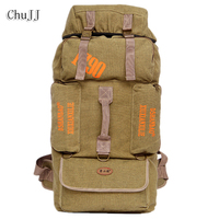 Chu JJ 85L Large Capacity Men Backpack Casual Canvas Unisex Backpack Women Men S Travel Bag