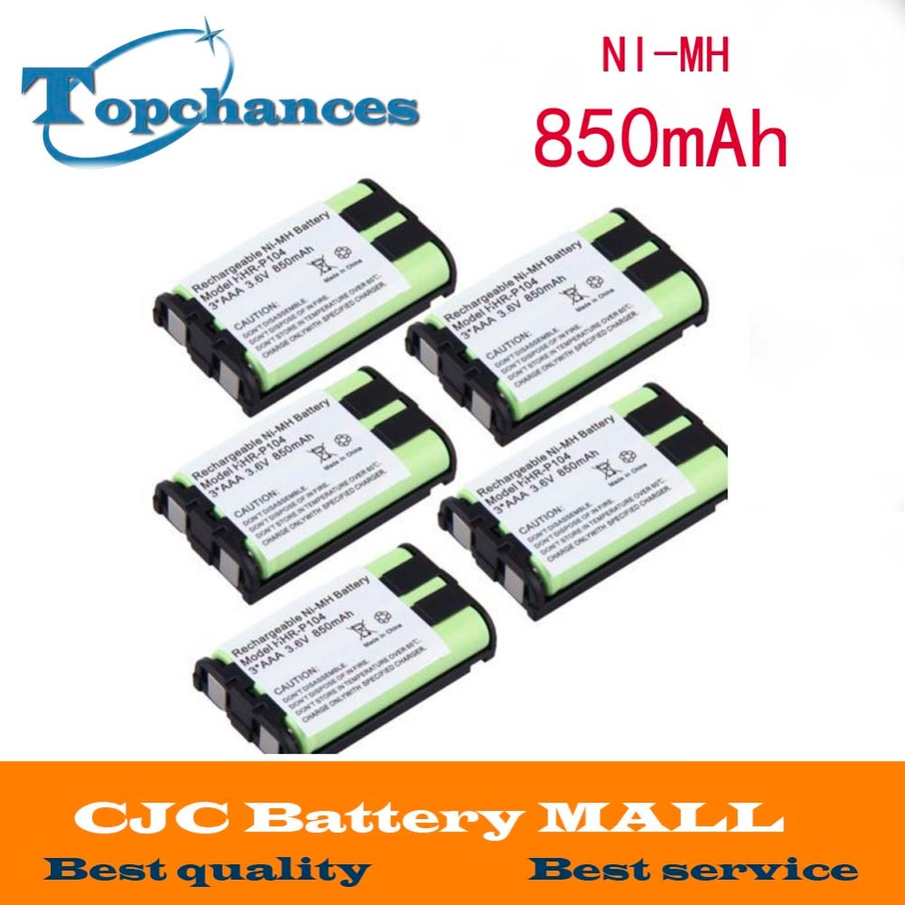 Batteries Romantic 5pcs Cordless Phone Battery 850mah Nimh For Panasonic Hhr-p104 Hhr-p104a/1b Type 29