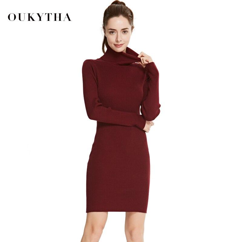 Zimní dámské roláky šaty si teplý svetr svetr tenké jednoduché dámské svetry svetrky spodní šaty
