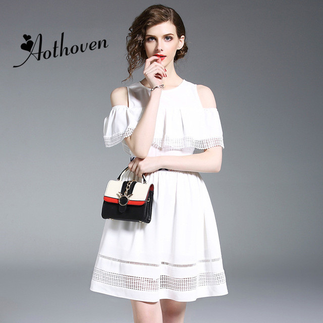 b556eb7d364 Summer Dresses White Off the Shoulder Ruffles Dress Office Lady Sexy Party  Vintage Bandage Bodycon Dress High-End Women Dress