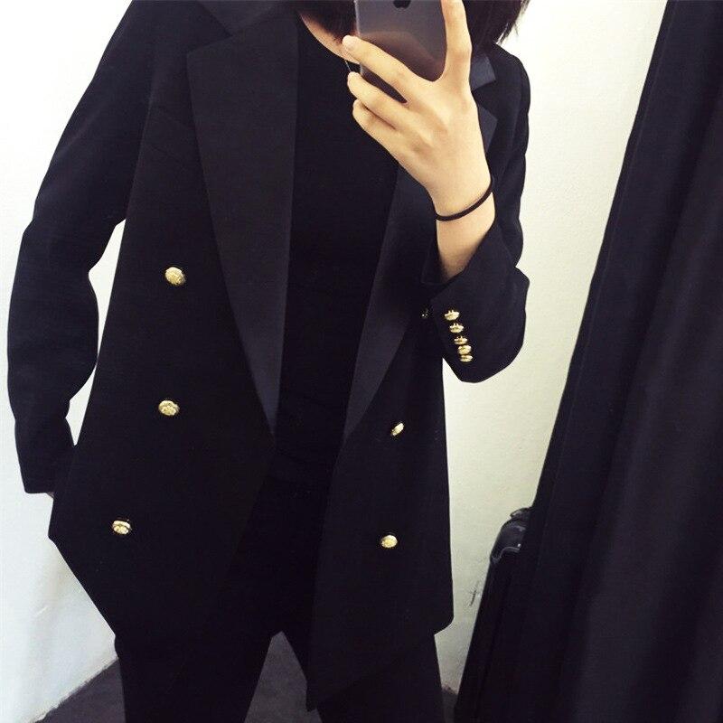 Spring And Autumn New Black Small Suit Women's Plus Size Suit Suit Jacket Office Casual Joker Suit Jacket JQ722
